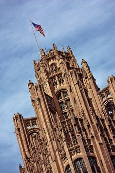 Chicago tribune tower - has stones from Stonhenge, Berlin Wall, Great Wall of China, even a Moon rock.  Incredible!
