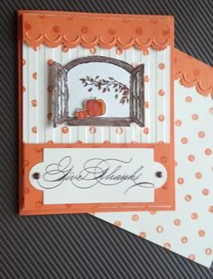 Cottage Window Fall Card