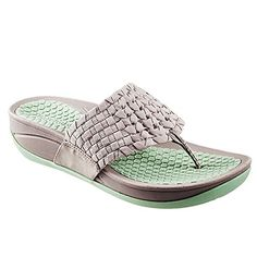 BareTraps Womens Denna Platform Sandal (9 B(M) US, Light Gray/Green) -- Details can be found by clicking on the image.