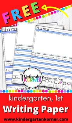 Get Free printable writing paper worksheets for kindergarten and 1st grade straight into your email inbox!! | kindergarten free writing prompts | Kindergarten free printables