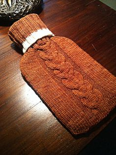 Ravelry: hotspicedtea's Hot Water Bottle Cover #1