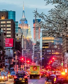 New York City Feelings - View of Empire State Building from Bowery by...