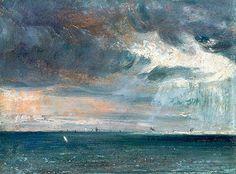 bofransson: A Storm off the Coast of Brighton - John Constable via Bernard Vermersch Landscape Art, Landscape Paintings, Art Et Illustration, Paintings I Love, Art Graphique, Impressionism, Brighton, Art History, Painting & Drawing