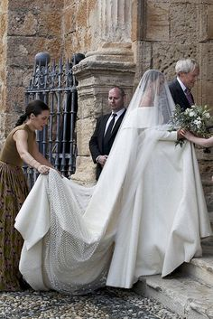 The bride wore a gown designed by Emilia Wickstead  | Lady Charlotte Wellesley entered the church with her father, the Duke of Wellington.