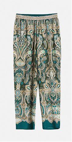 Green printed trousers - OYSHO.com
