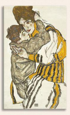 Egon Schiele, Sanatçının Eşi ve Küçük Nephev