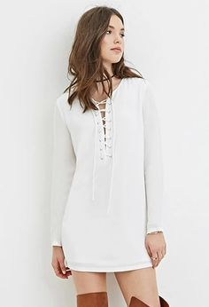 Lace-Up Mini Dress | Forever 21 #thelatest