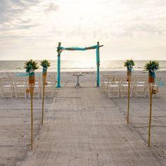 #beachwedding #weddingplanner #weddingdecor #weddinginspiration #tropicalwedding Tropical Tiki Torches, Beach Ceremony, Beach Weddings, Ceremony Decorations, Wedding Planner, Wedding Inspiration, Weddings At The Beach, Wedding Planer, Wedding Planners