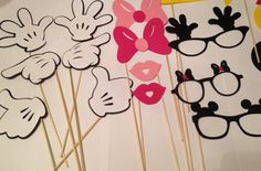 20 pc Mickey Mouse Photobooth Props, Disney Photo Props, 20 pieces, Disney Party