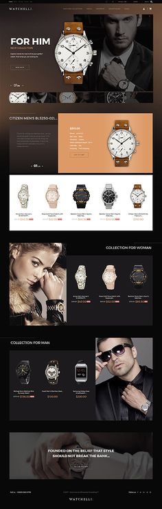 Watchstore website inspirations at your coffee break? Browse for more PrestaShop #templates! // Regular price: $139 // Sources available: .PSD, .PHP, .TPL #Fashion #Watch #PrestaShop