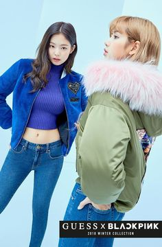 Jennie Lisa GUESS Winter Collection 2018 Coat Jacket Source by Winter fashion Kim Jennie, Jenny Kim, Blackpink Fashion, Korean Fashion, Winter Fashion, Divas, Rapper, Black Pink, Blackpink Photos