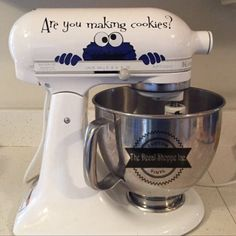 Are You Making Cookies? Cookie Monster - Mixer Decal