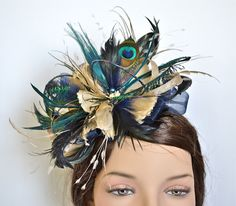 my fascinator is finished!  so excited to wear it next week!