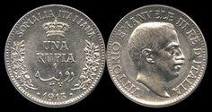 Somalia Italiana, 1 Rupia, 1915