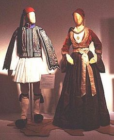 FolkCostume&Embroidery: Overview of the Folk Costumes of Europe, Greece Greek Traditional Dress, Traditional Outfits, Folk Fashion, Ethnic Fashion, Women's Fashion, Greek Dancing, Dance Costumes, Greek Costumes, Modern Dance