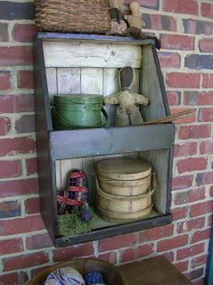 Primitive Souls: great little shelf, make our of drawer. (Like ones I made already)