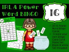 This bingo game goes along with the IRLA Framework from the American Reading Company. This game would be perfect for whole group, small group, or your literacy center! Fun power word practice!