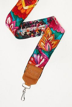 Slide View 3: Leather Embroidery Camera Strap