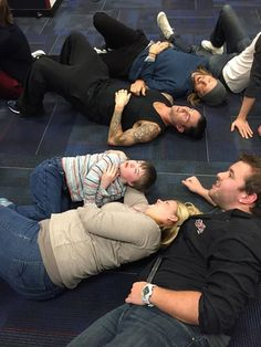 Understandably, the excitement of finally meeting Adam Levine proved to be a bit much and Christopher had a panic attack. So Levine and the rest of the band decided they'd just chill out on the ground with him.