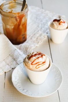 Salted butter caramel chantilly cream