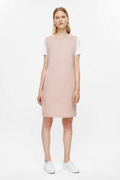 COS image 1 of Sleeveless sweatshirt dress in Dusty Pink