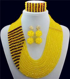 African Beads Jewelry Set Crystal Beads Necklace Set African Jewelry Set Crystal Jewelry Set 10001-2