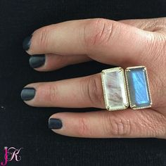 Will you get one? Keep your fingers crossed... SHOP NOW at www.jenkdesignsny.com #moonstone #labradorite #stack #diamond #love #color #nyfw #east #west #ring #woodmere #englewood #jenk