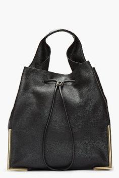 3.1 PHILLIP LIM Black Lux Grain Goat leather Scout Hobo bag