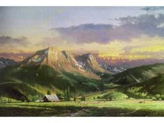 Thomas Kinkade Dusk in the Valley Painting Limited Edition Canvas