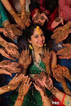 Mehandi - The Mehandi Ritual! Photos, Punjabi Culture, Beige Color, Bridal Makeup, Mangtika, Flower Jewellery pictures, images, Vendor credits - WeddingPlz