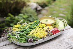 Basil Anchovy Aioli For Garden Veggies - West Coast Kitchen Garden