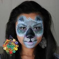 Koala Makeup | Koala Face Paint Face painting - koala