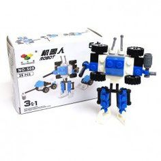 Blue Robot 3-in-1 Brick Sets (35 Pieces)