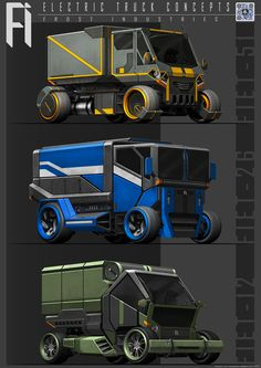 ArtStation - Electric Truck Concepts, Benjamin Tan