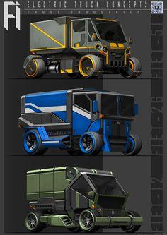 ArtStation - Electric Truck Concepts, Benjamin Tan