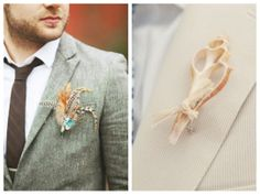 non-floral boutonniere ideas for your groom
