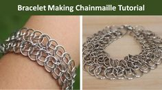 Learn bracelet making with the Double Persian Star. This chainmaille technique is a variation of the Persian chainmaille technique.
