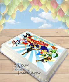 DC Superhero Girls Edible Image Cake Topper [SHEET]