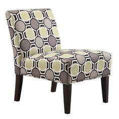 Kayla Polka-dot Fabric Armless Lounge Chair | Overstock.com $185
