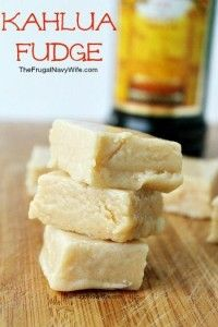 Love a great fudge recipe? You'll adore this Kahlua Fudge Recipe! It's the perfect dessert any time of the year! Love a great fudge recipe? You'll adore this Kahlua Fudge Recipe! It's the perfect dessert any time of the year! Fudge Recipes, Candy Recipes, Sweet Recipes, Holiday Recipes, Fudge Flavors, Cake Flavors, Köstliche Desserts, Delicious Desserts, Dessert Recipes