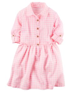 Kid Girl Gingham Shirt Dress from Carters.com. Shop clothing & accessories from a trusted name in kids, toddlers, and baby clothes.