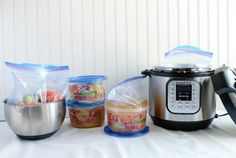 Instant Pot Tips - Freeze Meals in a round container so you can cook from frozen!