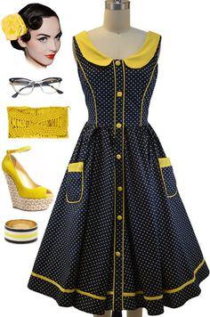 The Bates Motel dress! Vestidos Vintage, Vintage Dresses, Nice Dresses, Vintage Outfits, Vintage Fashion, African Print Dresses, African Fashion Dresses, African Dress, African Attire