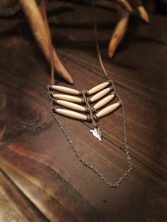 Bohemian style hair pipe necklace by TribalChicBoutique on Etsy