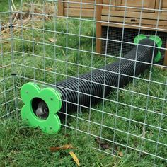 "A popular connection kit from hutch or shed to run. Includes: 2 x Runaround Sliding Doors 1 x 4ft, 8ft,12ft or 16ft Pipe & Hoops (to secure into soft ground) Choice of 6 or 8"" diameter pipe. The 6""pipe bends quite easily. As a guide most rabbits fit the 6 inch pipe up to 4kg in weight. After this weight you may be best choosing the 8 inch pipe. In our experience this will fit a continental giant and the larger lop breeds. You will need to cut an aperture in wooden side or th..."