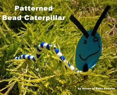 House of Baby Piranha: Patterned Bead Caterpillar
