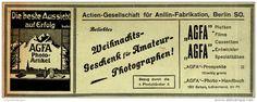 Original-Werbung/ Anzeige 1909 - AGFA PHOTO - ARTIKEL - ca. 180 x 65 mm