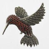 Jewelled hummingbird brooch at skywithdiamonds.com.au