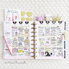 Day. 4 & 5. Planning in Progress and Decoration Happy Monday lovelies! Here is my layout for the week. How adorable is the Mickey pom-pom clip that the talented and lovely @hello_sugarlove sent me!? If you aren't following her already please show her some love. She makes gorgeous handmade bookmarks you're sure to love. Thank you so much hun you're the sweetest! Hope you're all having a great day! #octoberinstalist by missplannerella