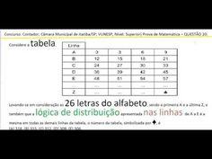 Curso Raciocínio Lógico Teste Psicotécnico Contagem Tabela frequência De... https://youtu.be/klYR8PSZglM
